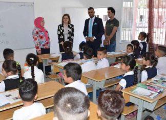 زيارة عضو تحالف القرار العراقي الدكتورة #شذى_النعيمي لمدرسة عمار بن ياسر في الغزالية