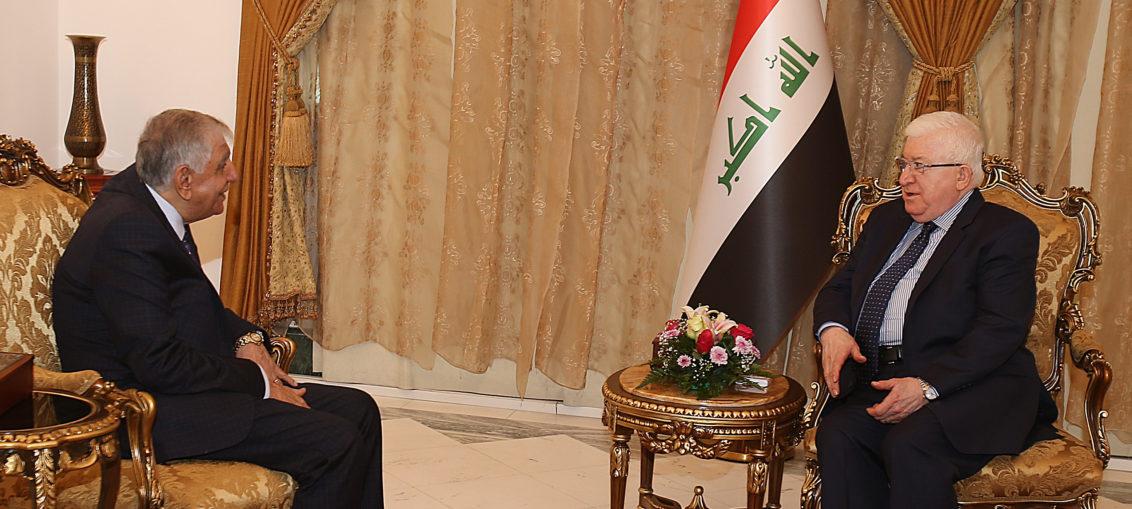 الرئيس معصوم و اللعيبي يتفقان على اللغة العربية