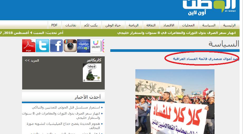 صحيفة سعودية:هذه اموال السياسيين في العراق