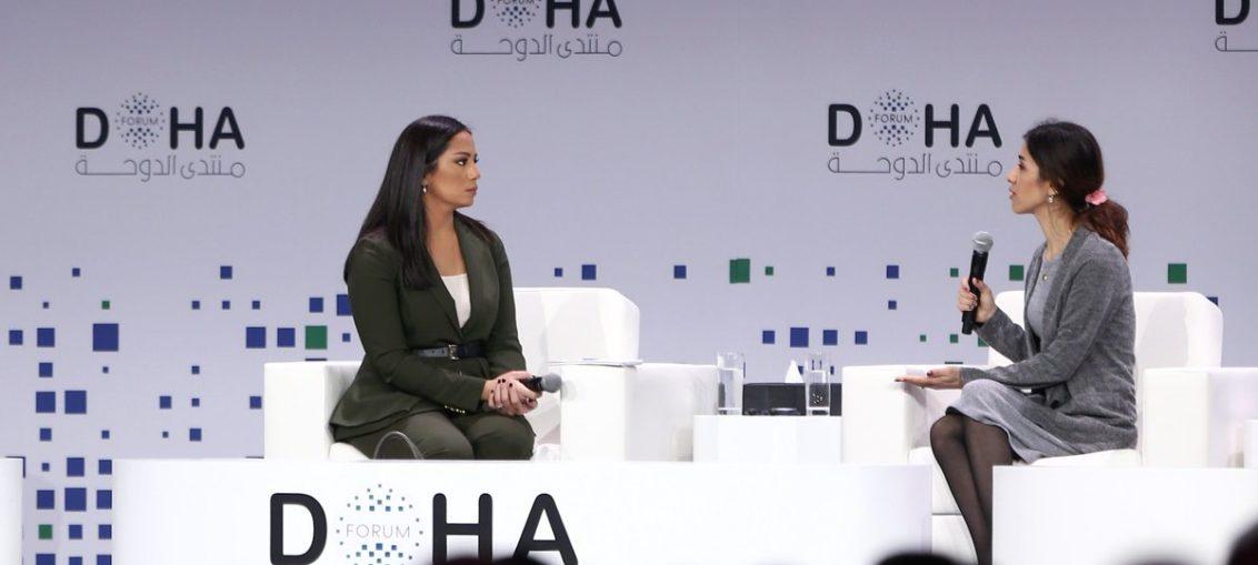 نادية مراد من قطر:إبن شقيقي أشهر اسلامه وأنظم لداعش الإرهابي وهددني بالقتل لاني كافرة أو السبي