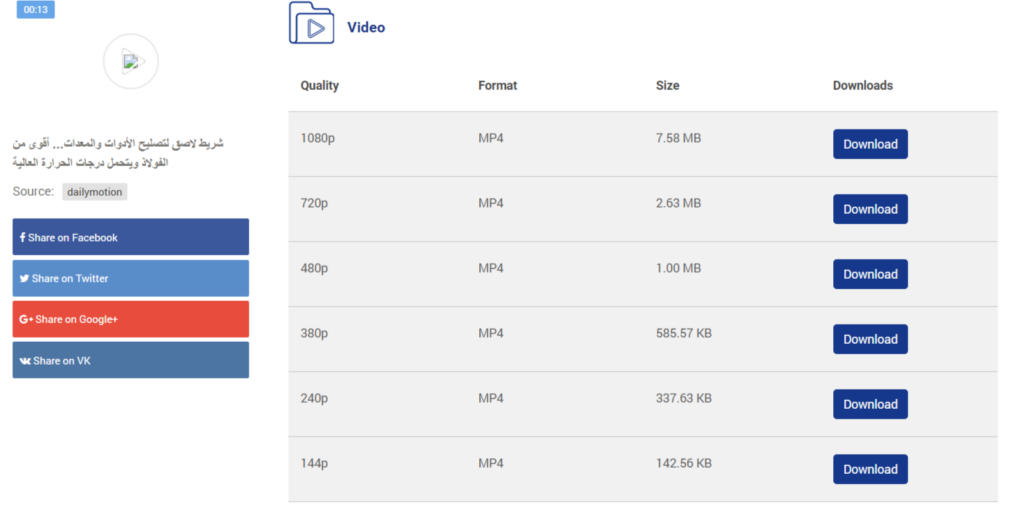 كيفية تحميل فيديو من daily motion بصيغة MP4 بجودة عالية؟
