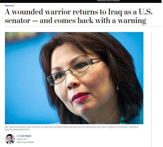 السناتورة التي عوقها العراقيون:العراق في حافية الهاوية وتدق ناقوس الخطر للمصلاويات ترجمة خولة الموسوي