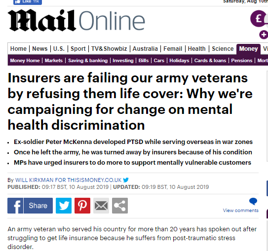 ننسى ولا ينسون!شركات التأمين البريطانية ترفض التأمين على العائدين من غزو العراق ترجمة خولة الموسوي