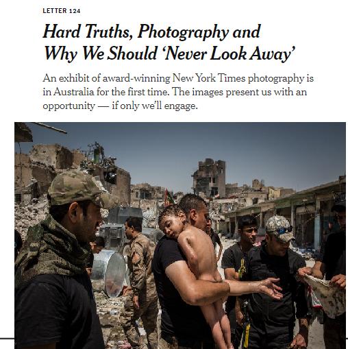 ننسى ولا ينسون!نيويورك تايمز تسلط الضوء على معارض صورية عن ضحايا العراق في استراليا ترجمة خولة الموسوي