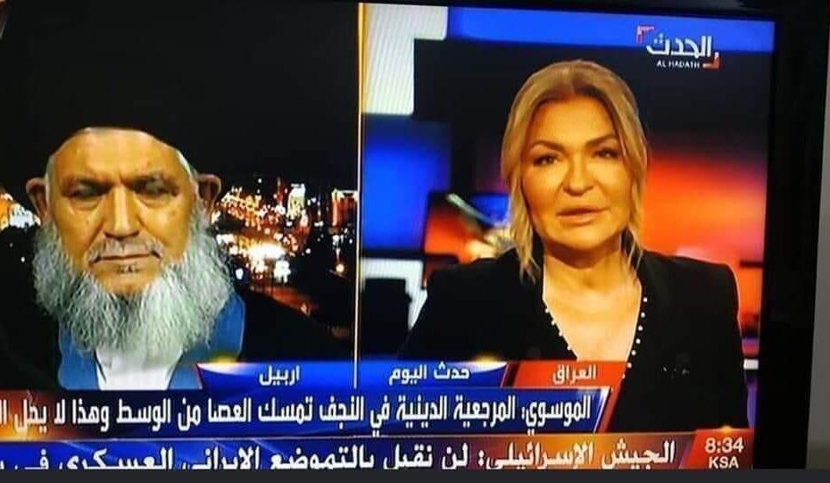 رجل الدين الشيعي الذي إلتقته قناة العربية عقيد مخابرات صدامي