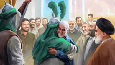 Photo of وسائل اعلام ايرانية تنشر صورا لسليماني مع خميني والامام الحسين وابو مهدي المهندس