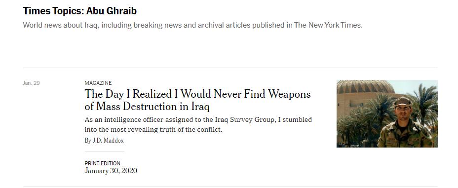 ضابط أميركي :بحثنا بحمام عدي ومراحيض والده عن اسلحة الدمار الشامل ترجمة صحيفة العراق
