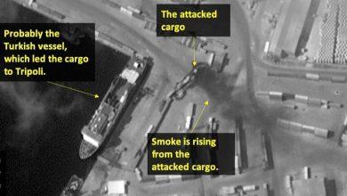 Photo of صورة فضائية للموقع المستهدف في ميناء طرابلس الليبي