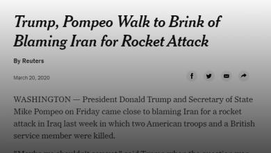 Photo of نيويرك تايمز تكتب عن المؤتمر الصحفي لترامب حول ايران والعراق