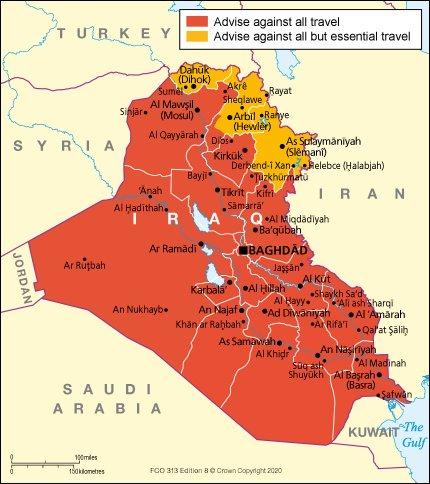 السفير البريطاني:لا تسافروا الى العراق