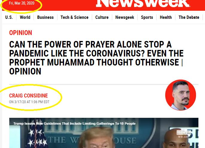 مجلة نيوزويك الامريكية :علاج الكورونا تنبأ به نبي الاسلام محمد ص قبل 1440