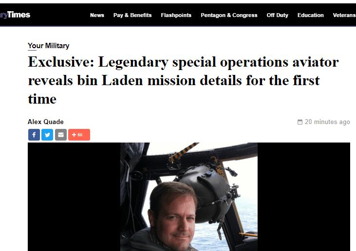 طيار العمليات الخاصة الأسطوري يكشف تفاصيل مهمة بن لادن لأول مرة