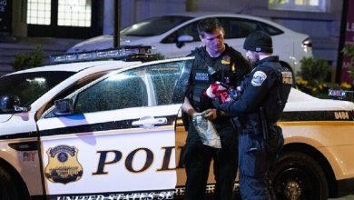 صورة إطلاق رصاص في ملعب أثناء مباراة رياضية في #ألاباما