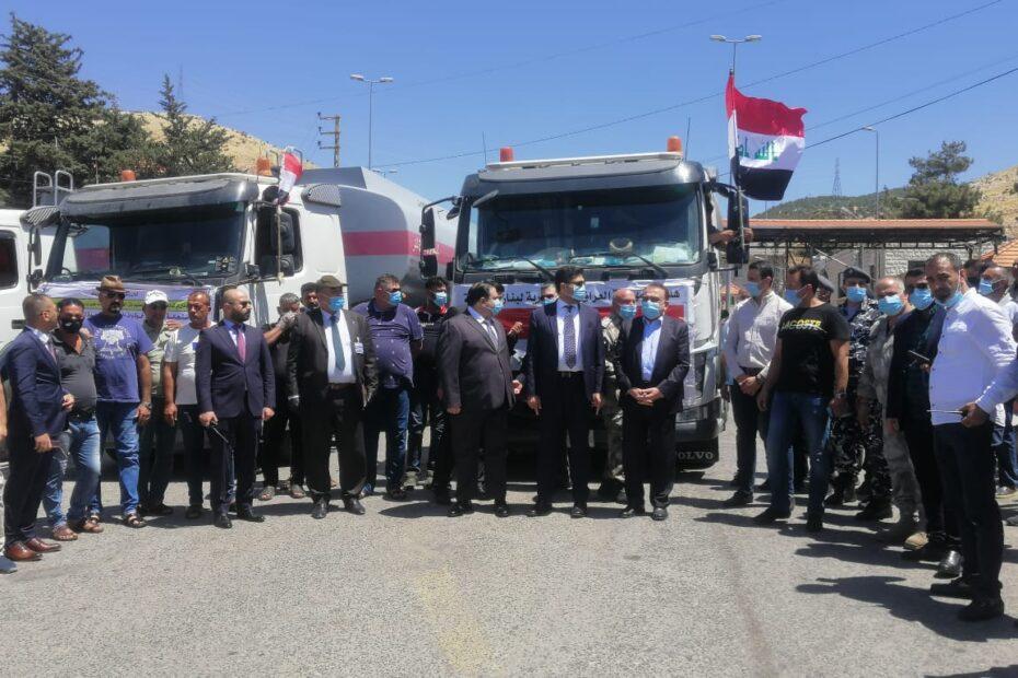 وصول 22 تريلة كاز من العراق عن طريق سوريا للبنان بيوم نكران الجيش اللبناني فضل العراق