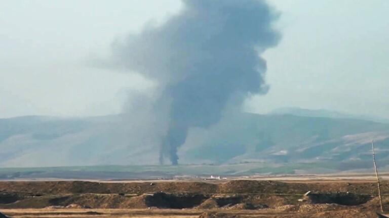 قصف قوات أذربيجان عاصمة قره باغ بارمينيا