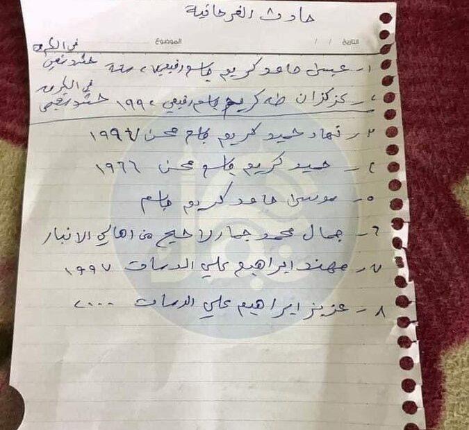 انباء عن مقتل الاربعة المخطوفين من منطقة الفرحاتية شمال بغداد نحرا