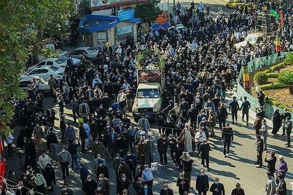 ايران تشيع قتلاها بنيران داعش الارهابي قبل 53 شهرا بسوريا