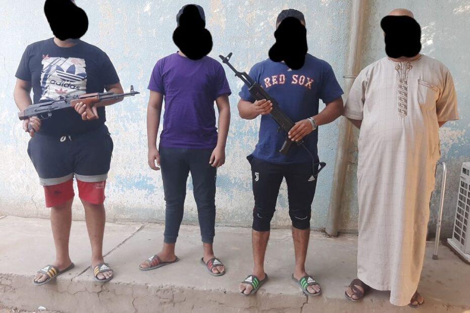 شرطة الخمس والغدير تقبض على حشاشة وحرامية بايسكلات