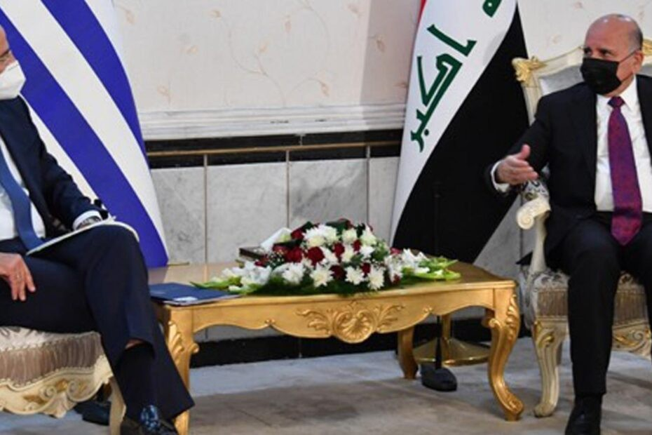 نركيا تحجز وزير خارجية اليونان بعد عودته من بغداد والغائه عقد غاز ديالى