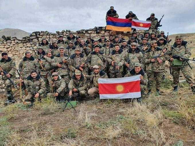 تويتر الامريكي : يزيديون عراقيون من سنجار يقاتلون الى جانب ارمينيا المسيحية ضد اذربيجان المسلمة في كارباخ
