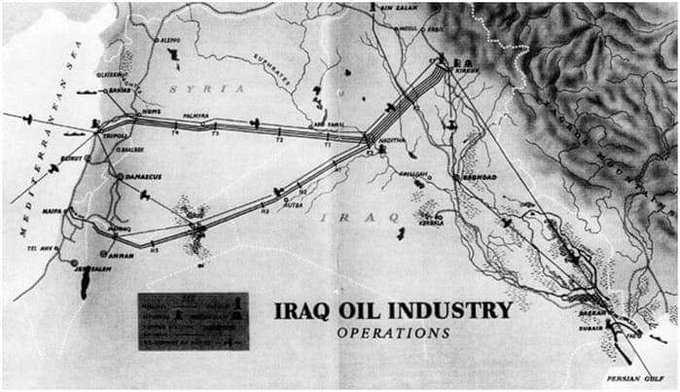 الذي اوقفه حافظ الاسد عام 1982 اخماد حريق بانبوب نفط كركوك لبنان