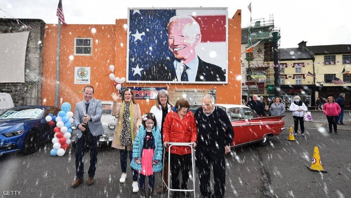 أجداد الرئيس المنتخب بايدن من اصول ايرلندية