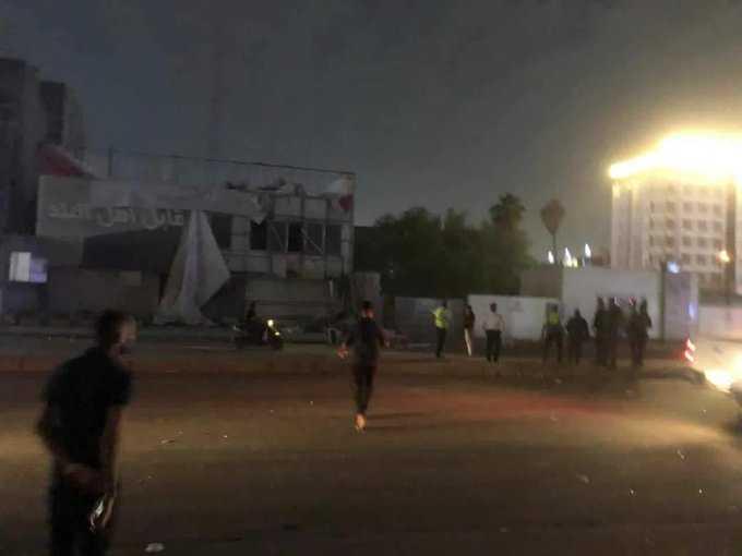 سوق عريبة يحترق الان بمدينة صدام