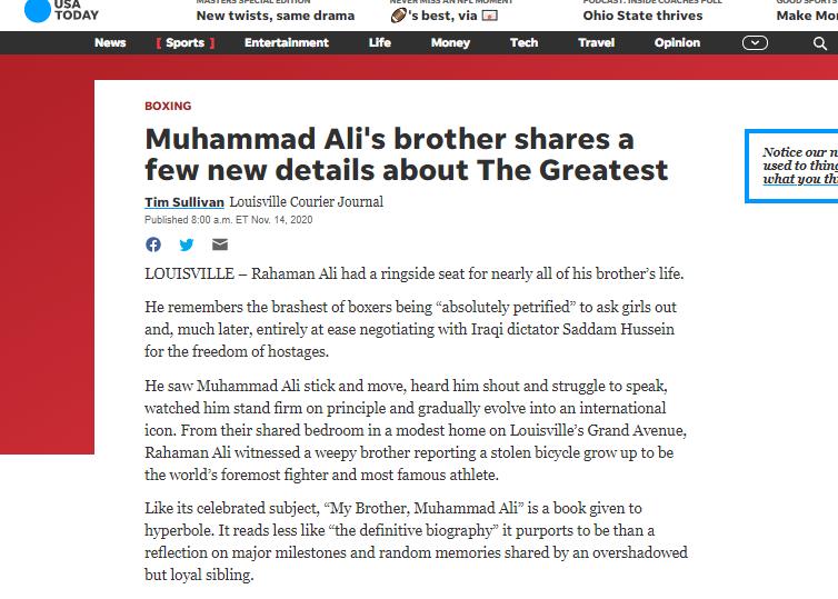 تفاصيل جديدة عن تفاوض صدام مع محمد علي كلاي