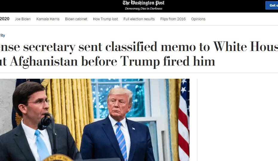 لماذا طرد ترامب وزير دفاعه ؟؟؟؟وما علاقته بالعراق؟