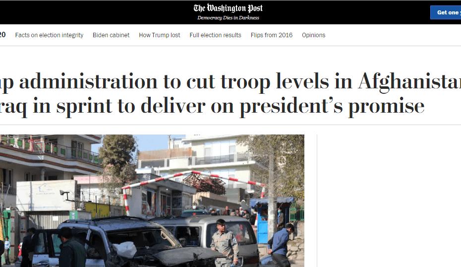 تقريرا نيويورك تايمز وواشنطن بوست حول سحب ترامب 500 مارينز من العراق ومعارضة زعيم الجمهوريين :لا تكن مثل أوباما