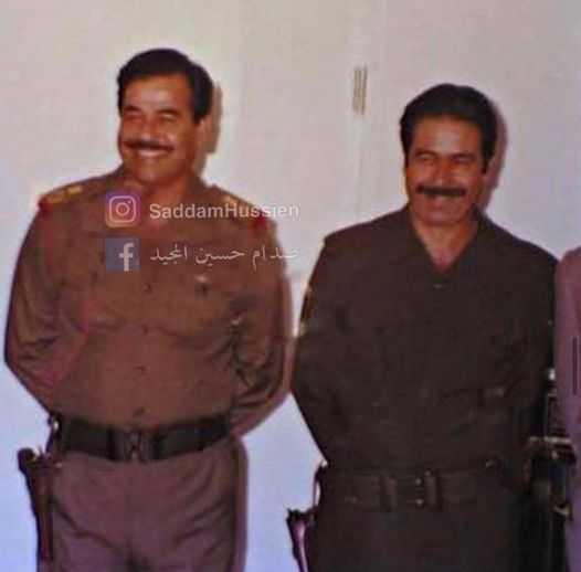 نشر قصيدة صدام وهو في السجن لابن عمه علي حسن المجيد
