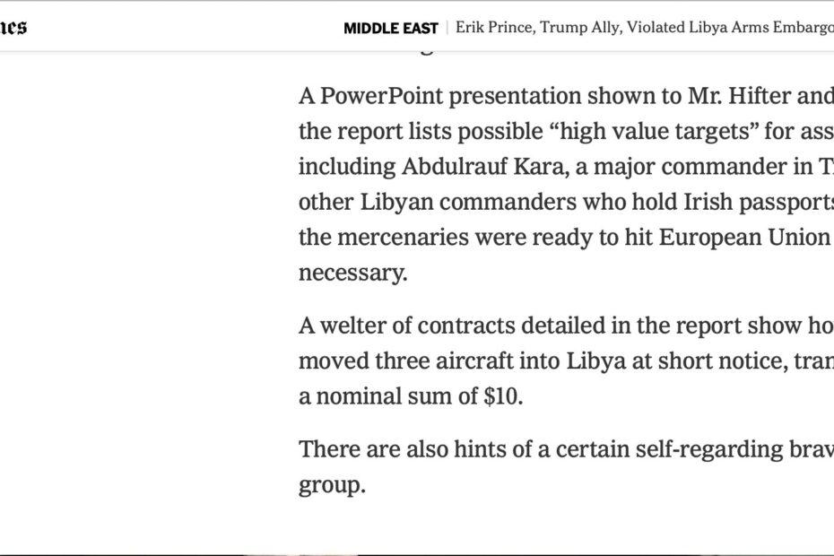 شاهدوا خسة ونذالة بلاك ووتر في ليبيا