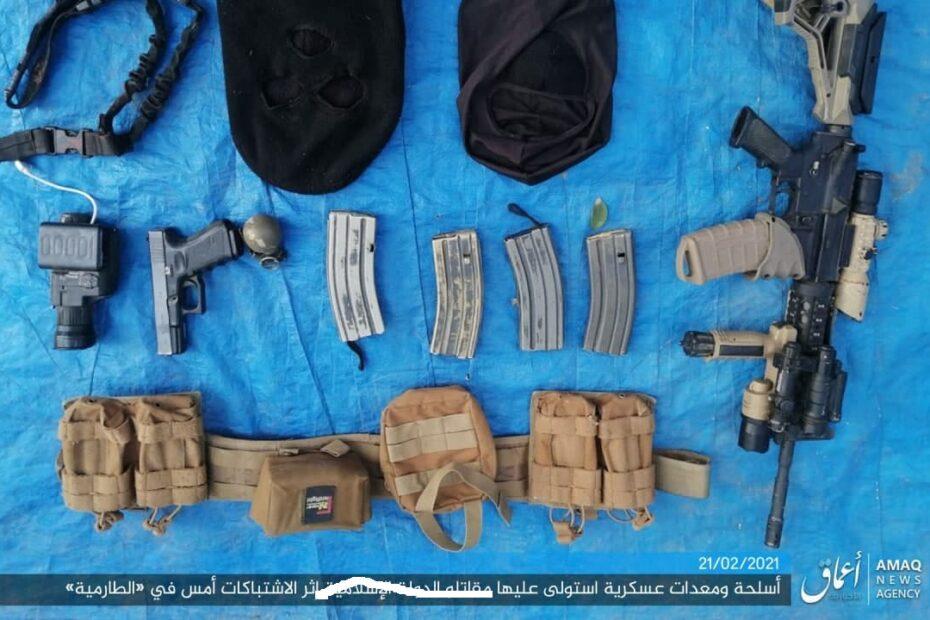 داعش الارهابي في بيان مطبوع ومصور عن معركة الطارمية: قتلنا امر فوج ومعاون امر فوج وطيار