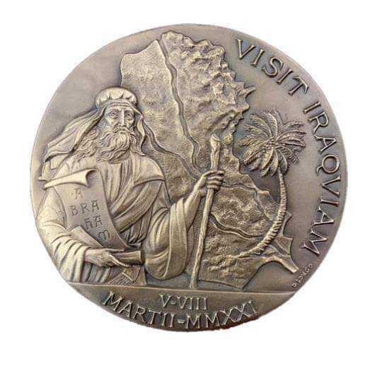 الفاتيكان يصدر ميدالية عن رحلة البابا للعراق ويعلن :سأزوره رغم الهجوم الصاروخي