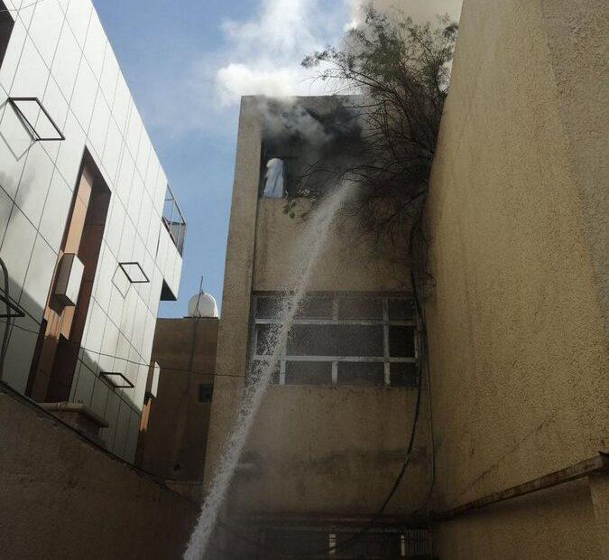 حريق داخل محكمة الكرخ في مخزن أضابير كاتب العدل
