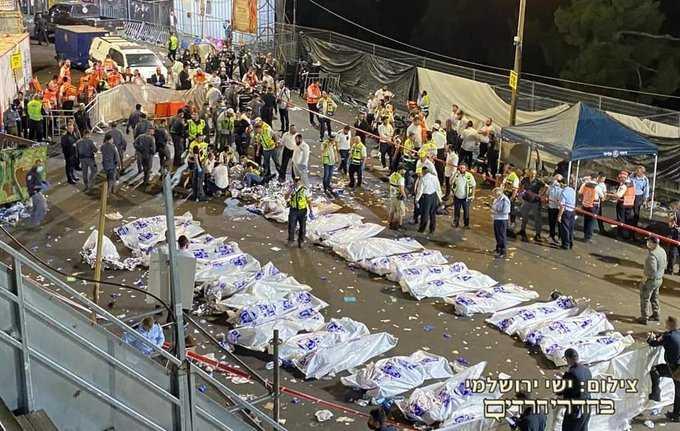 صورة ارتفاع قتلى انهيار منصة صهيونية خلال مهرجان ديني إلى 520 قتيلا وجريحا