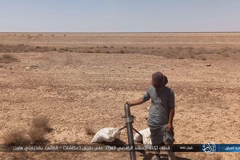 داعش الارهابي ينشر صور استهداف حشد المصلح الكاربولائي والفرقة السابعة تعلن تدمير صرايف طين لهم بالانبار