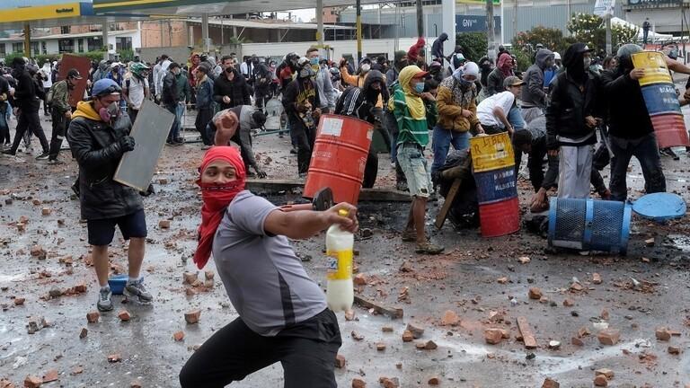 كولومبيا   تظاهرات مناهضة للحكومة ومقتل اشخاص