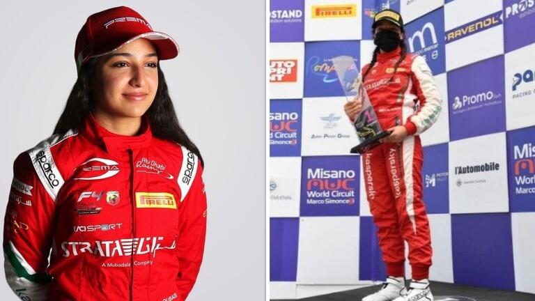 إماراتية تدخل التاريخ باعتلائها منصة التتويج في سباقات الفورمولا 4 الإيطالية