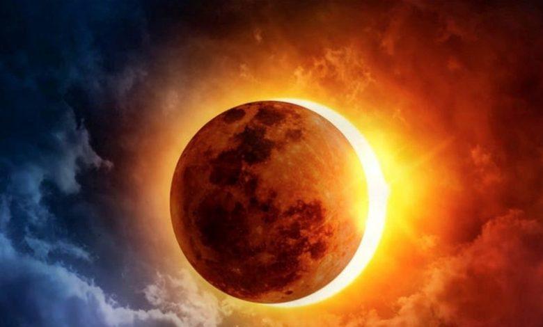 صورة كسوفاً للشمس على شكل «حلقة من النار» تضيء السماء