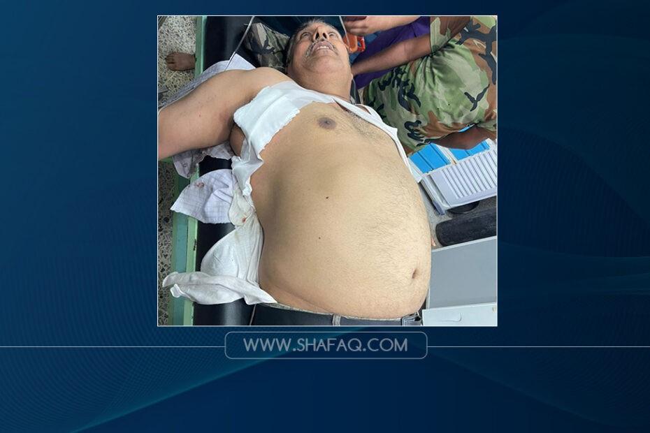 محاولة اغتيال للمرشح الدكتور عمار الربيعي في حي الفارس بطلقة في جهة الصدر اليمنى وسط المدينة