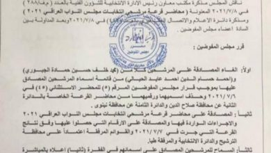 صورة المفوضية تحدد موعد الدعاية الانتخابية وطيا اسماء المرشحين البعض منها بالمقلوب