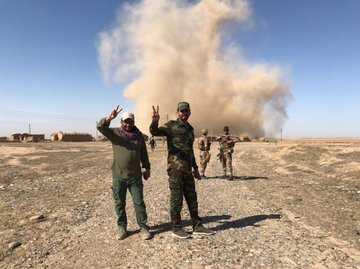 بعد يومين من اعلان لواء 33 الحشد الشعبي تفجير ملاجيء داعش الارهابي يقتل اليوم 8 في جبل نويكيط بالموصل