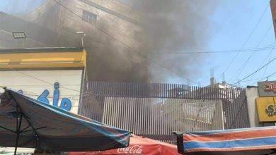صورة حريق داخل محل تجاري في #الكاظمية