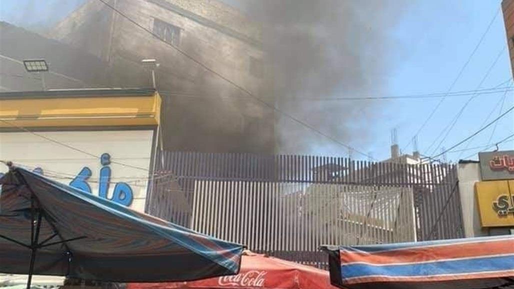 حريق داخل محل تجاري في #الكاظمية