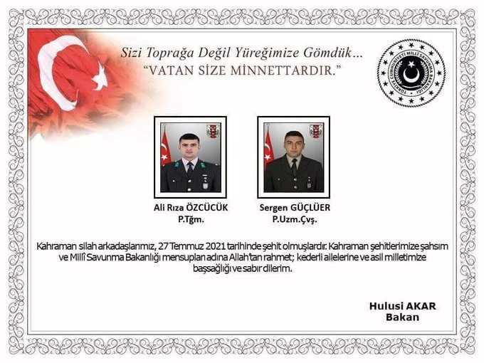 هذه صور واسماء قتلى الجيش التركي في العراق
