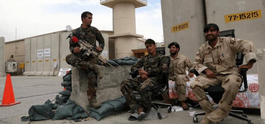 هروب المارينز من قاعدة افغانية