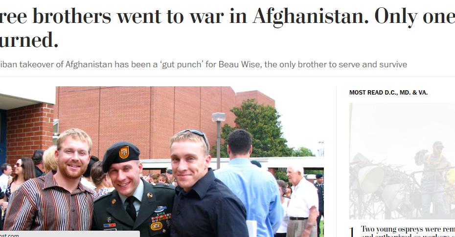 تقرير واشنطن بوست عن ثلاثة اشقاء قاتلوا لتحرير العراق وافغانستان وعادوا جثث مهشمة
