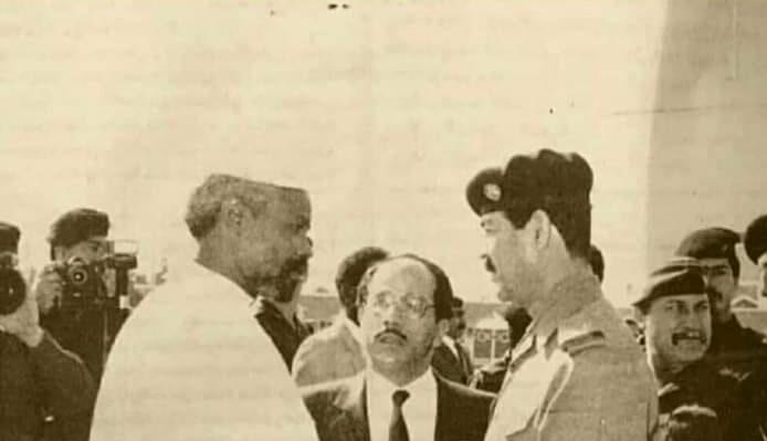 وفاة #رئيس_تشاد السابق حسين حبري الذي التقي بصدام حسين