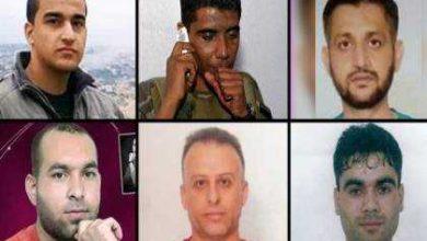 صورة اسماء وصور السجناء الفلسطييين الست الذين هربوا من الاسر الصهيوني